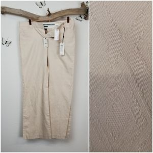 The limited cream textured editor pants new